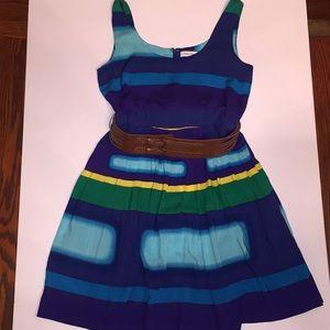 Flowy belted Calvin Klein dress size 8 EUC